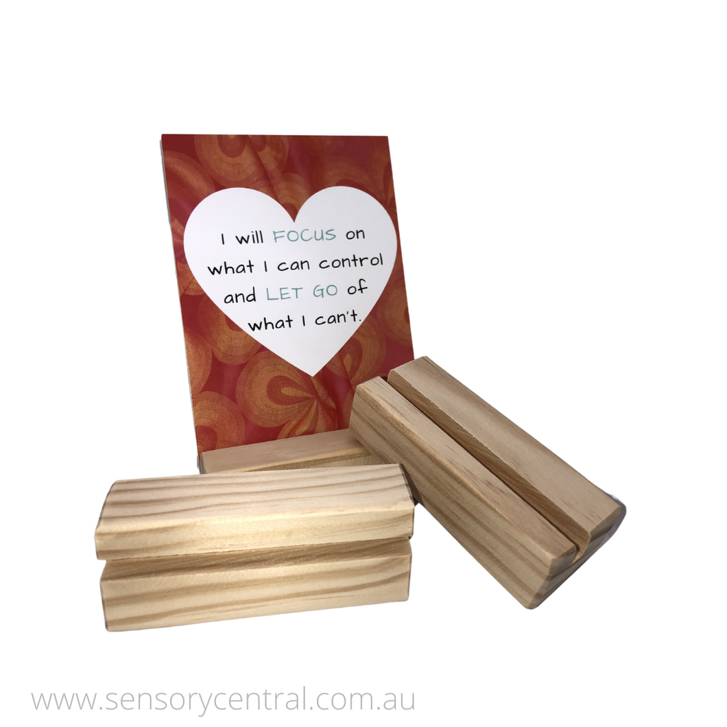 Timber Affirmation Card Stand