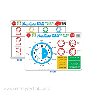 What's the Time? Wipe Clean Practice Mats