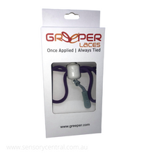 Load image into Gallery viewer, Greeper Laces - Once applied always tied! - Purple - Laces