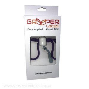 Greeper Laces - Once applied always tied! - Purple - Laces