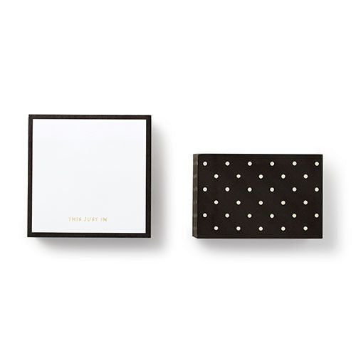 kate spade new york® Black Dots Note Cube