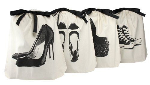 Travel women's shoe bags 4 pack
