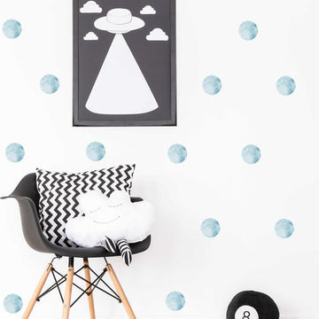 Blue Watercolor Wall Decal
