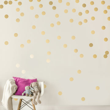 Mini Dots Wall Decal Gold