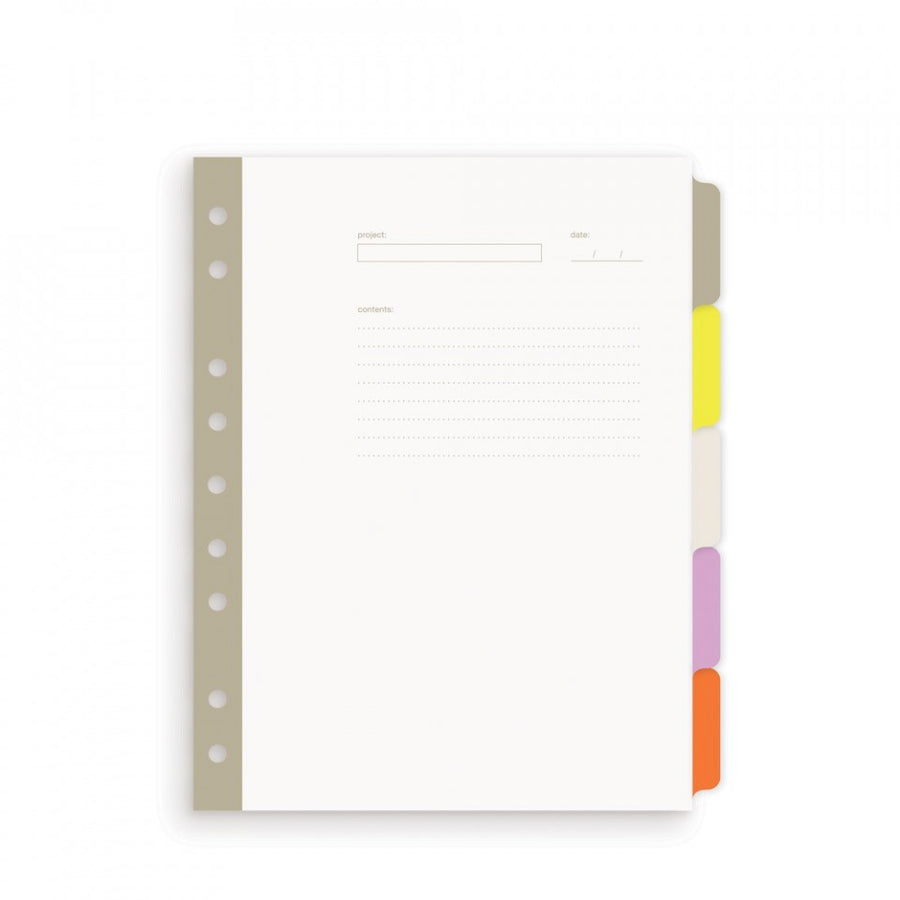 Mini Smart Date 5-tab index dividers