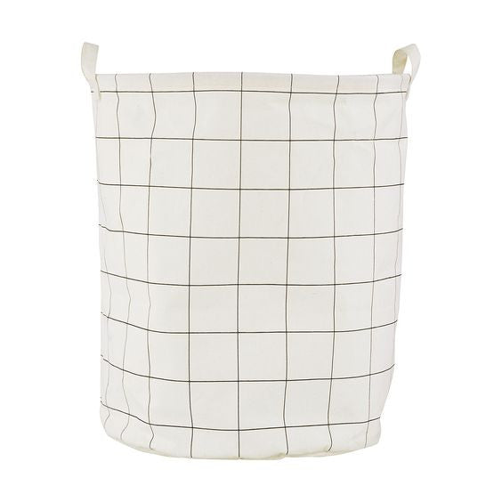 Large Grid Laundry Bag
