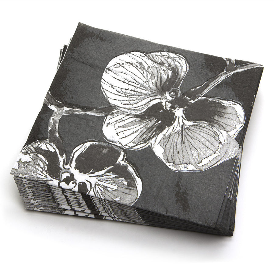 Black Orchid Lunch Napkins