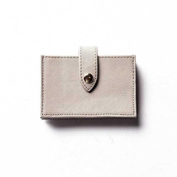 Initialed. accordion card holder in Dim Grey