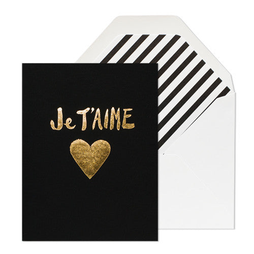 Je t'aime heart Card