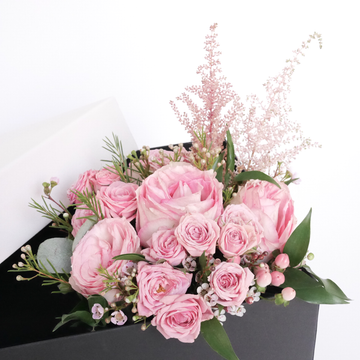 Pink flower bouquet- gift box add on