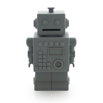 Robot Money bank Grey