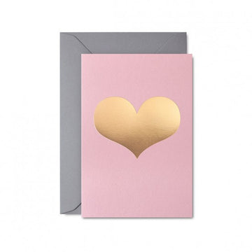 Pastel Pink Love Heart Card