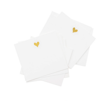 Lunchbox notes - gold hearts