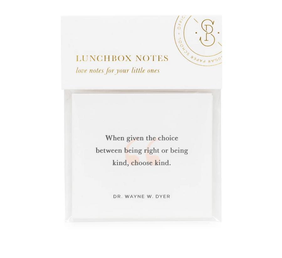 Lunchbox notes - inspirational quotes