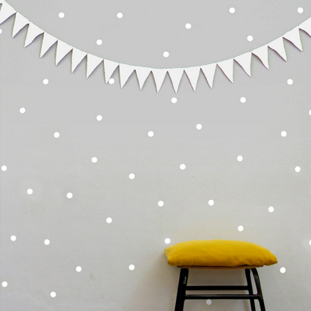 Mini Dots Wall Decal White