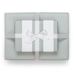 Soft Grey Rolls Reversible Gift Wrap