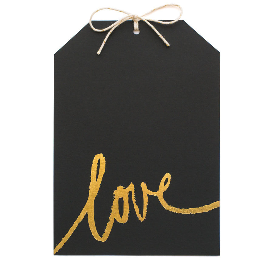 Large Love Tag