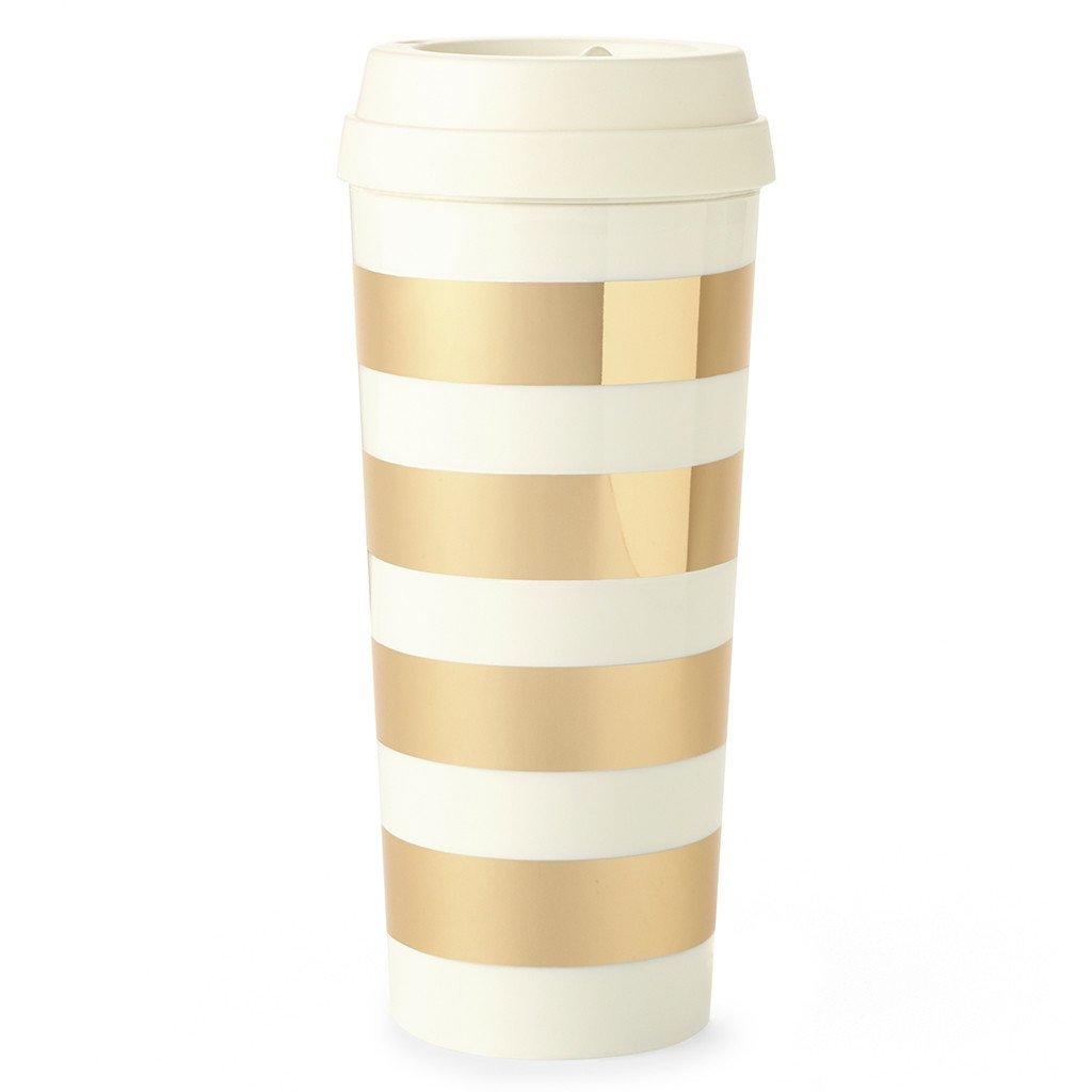Gold stripe Thermal mug