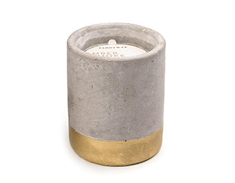 Mini Urban concrete candle - Amber & Smoke