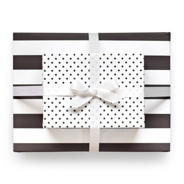 Classic Black Reversible Gift Wrap
