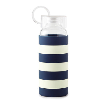 Kate Spade New York® blue stripe water bottle