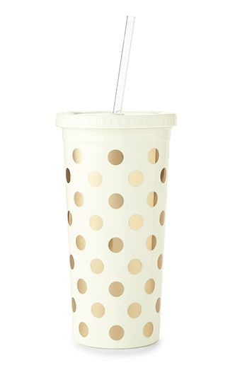 kate spade new york® gold dots tumbler
