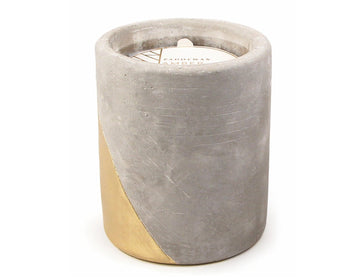 Urban concrete candle - Amber and Smoke