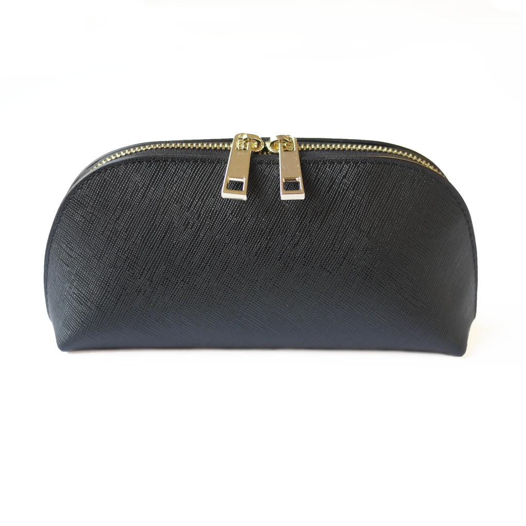Initialed. Cosmetic case in Black