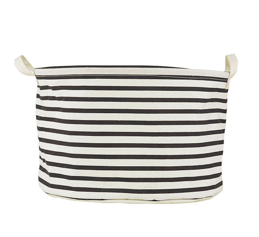 Striped Laundry Bin