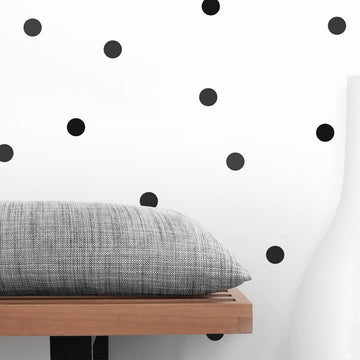 Mini Dots Wall Decal Black