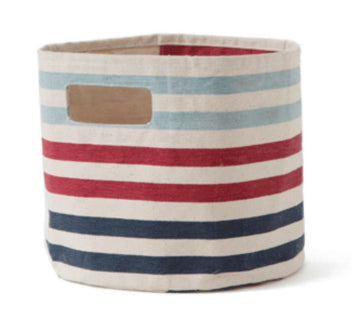 Blue Striped Bin/Hamper