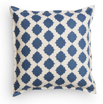 Cobalt Tile Pillow