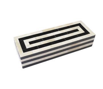Bone inlay box long