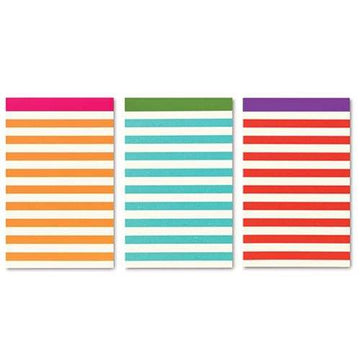 Candy Stripe Notepad Set