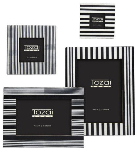 Black And White Striped Frames Craft And Company