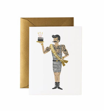 Strongman Birthday Greeting Card