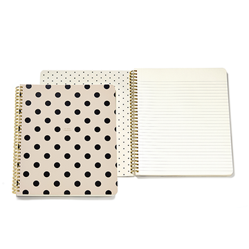 Large Deco Dots Spiral Notebook