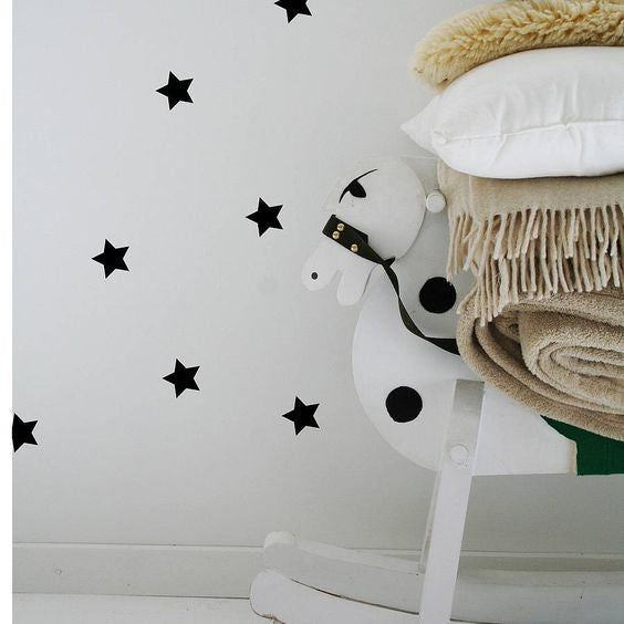 Mini Stars Wall Decal Black