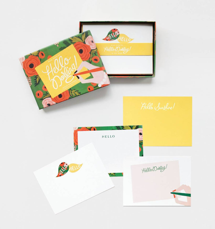 Hello Darling! Social Stationery Set