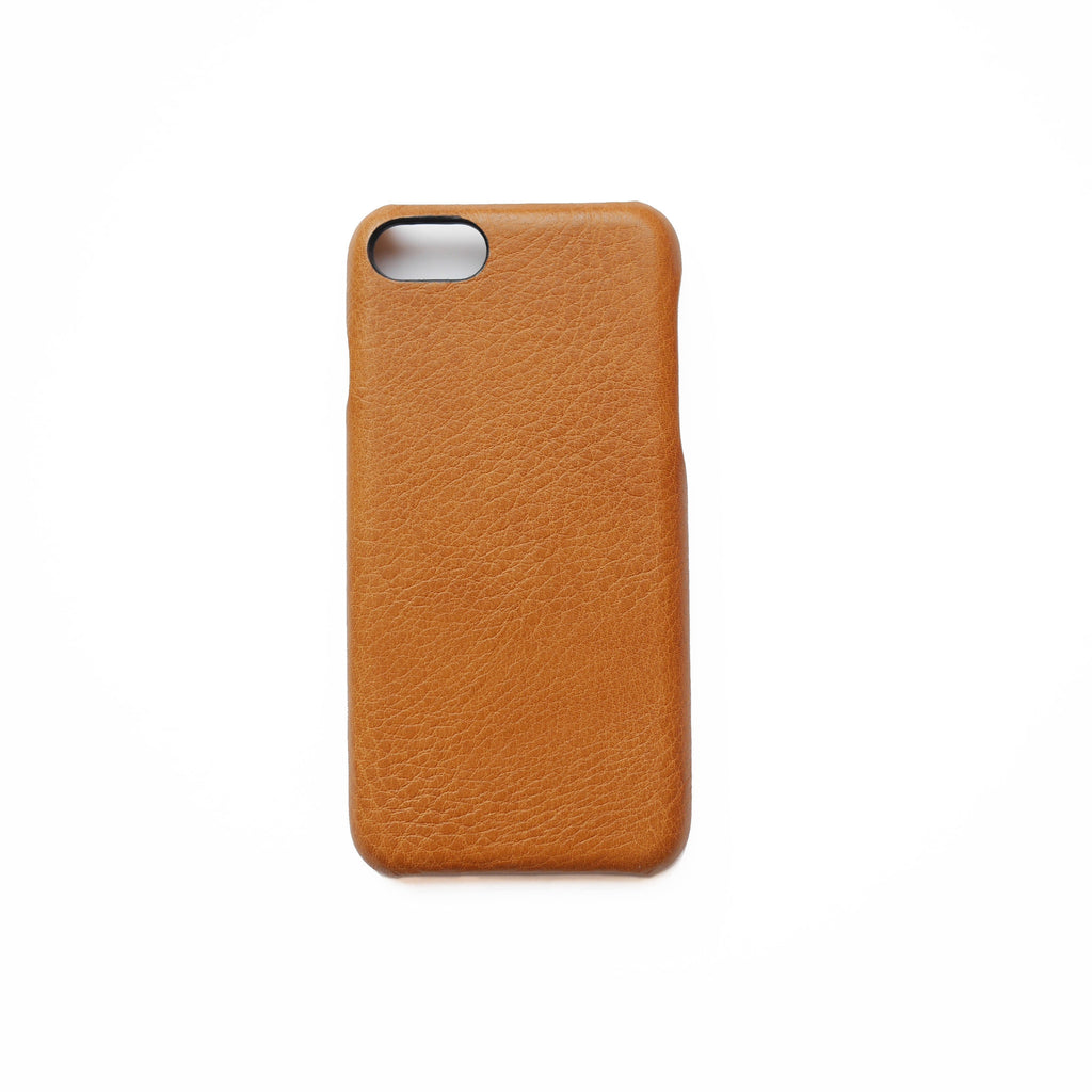 Initialed. Tan iPhone 7 case