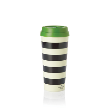 Black Stripe Thermal Mug