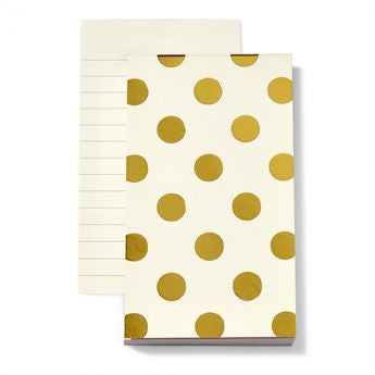 Gold Dots Notepad
