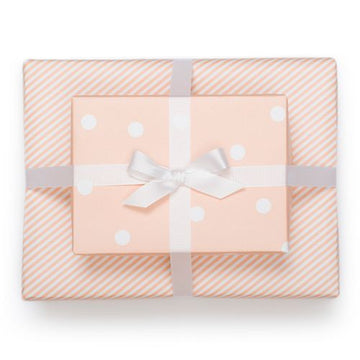 Pale Pink Reversible Gift Wrap