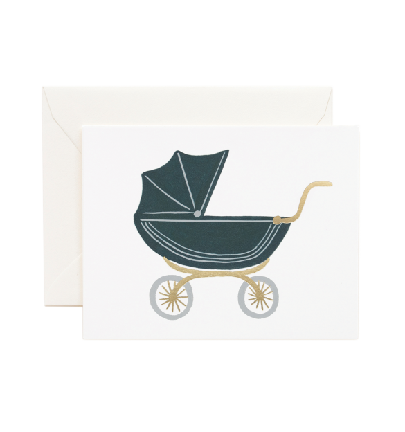 Pram Greeting Card