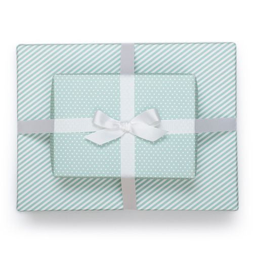 Pool Blue reversible gift wrap