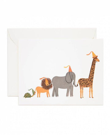 Birthday Animal Parade  Greeting Card