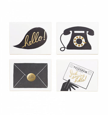 Hello! 8 card box  greeting card set