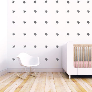 Mini Stars Wall Decal Grey