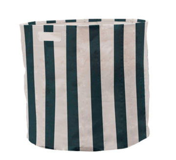 Cobalt Striped Hamper