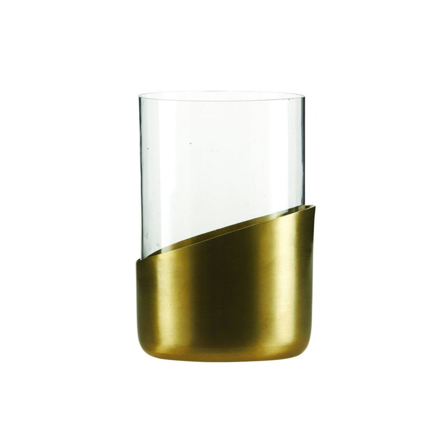 Brass tea light holder